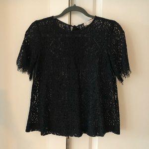 Black Loft Lace Shell